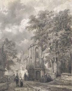 Cornelis Springer - Asperen - Tekening