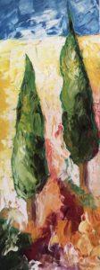 Abstracte kunst | Hans Bies | Schilderij | Cypressen 2008-01