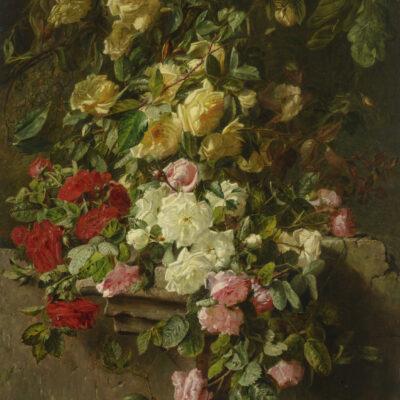 Adriana Haanen | Stilleven met rozen | Kunsthandel Bies