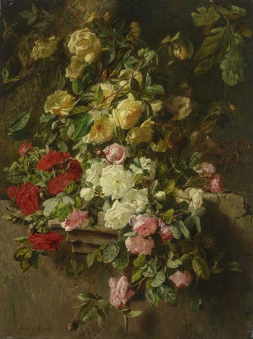 Adriana Haanen   Stilleven met rozen   Kunsthandel Bies
