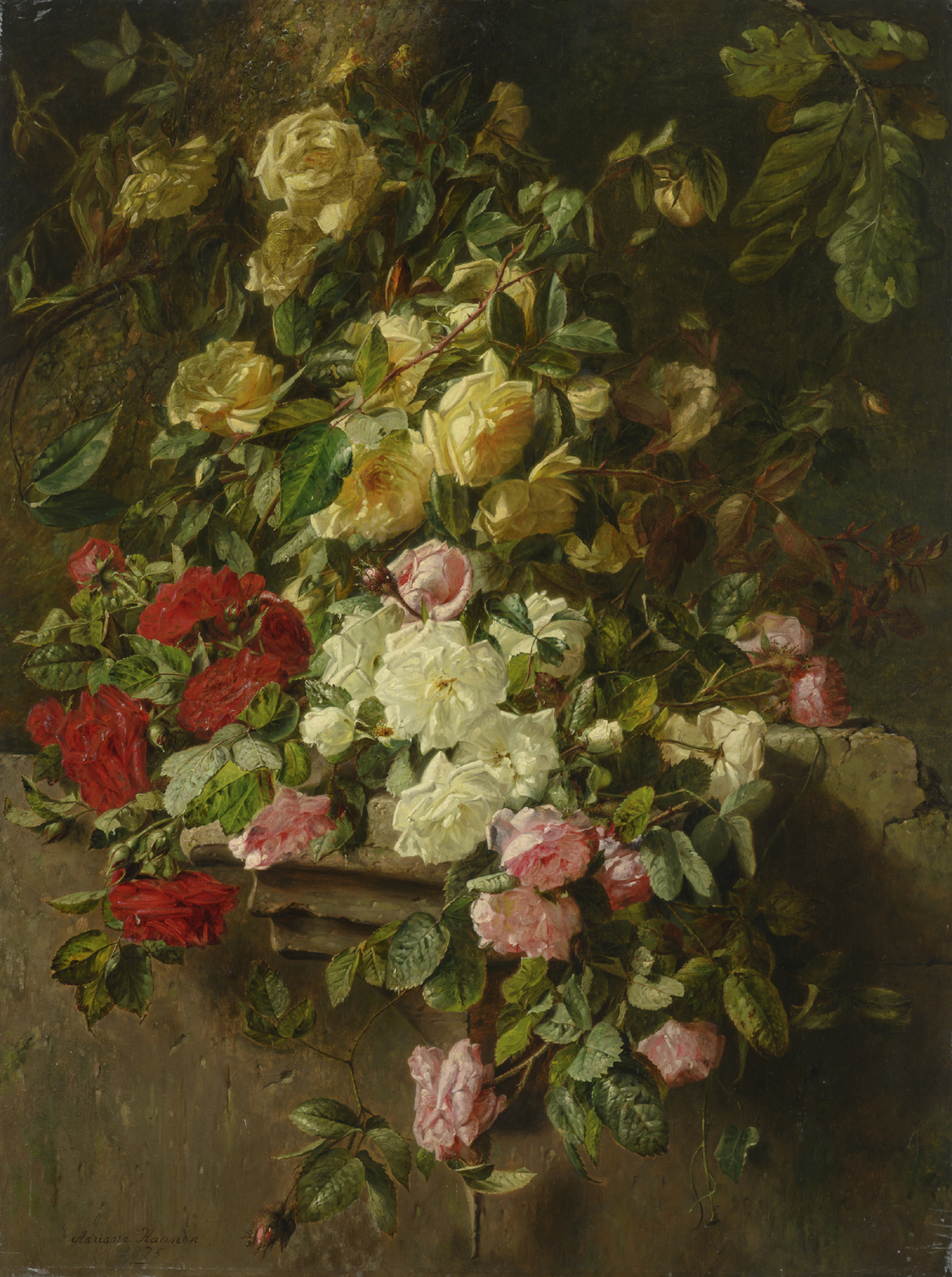 Adriana Haanen | A still life with roses | Kunsthandel Bies | Bies Gallery
