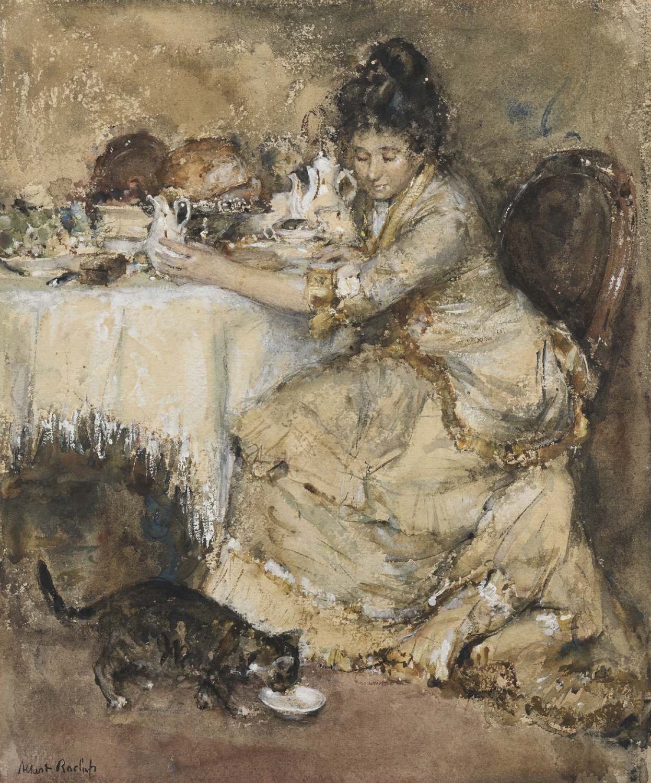 Albert Roelofs | Kitty's breakfast | Kunsthandel Bies | Bies Gallery