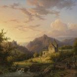 Alexander Joseph Daiwaille | Zomers landschap bij avondstemming | Kunsthandel Bies