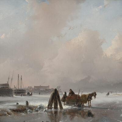 Andreas Schelfhout | Winterlandschap | Kunsthandel Bies
