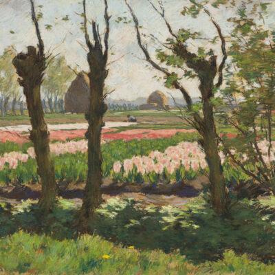 Anton L. Koster | Kwekerij met rose en roode hyacinthen | Kunsthandel Bies