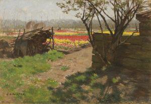 Anton L. Koster | Zonnig hoekje in de tulpenvelden | Kunsthandel Bies
