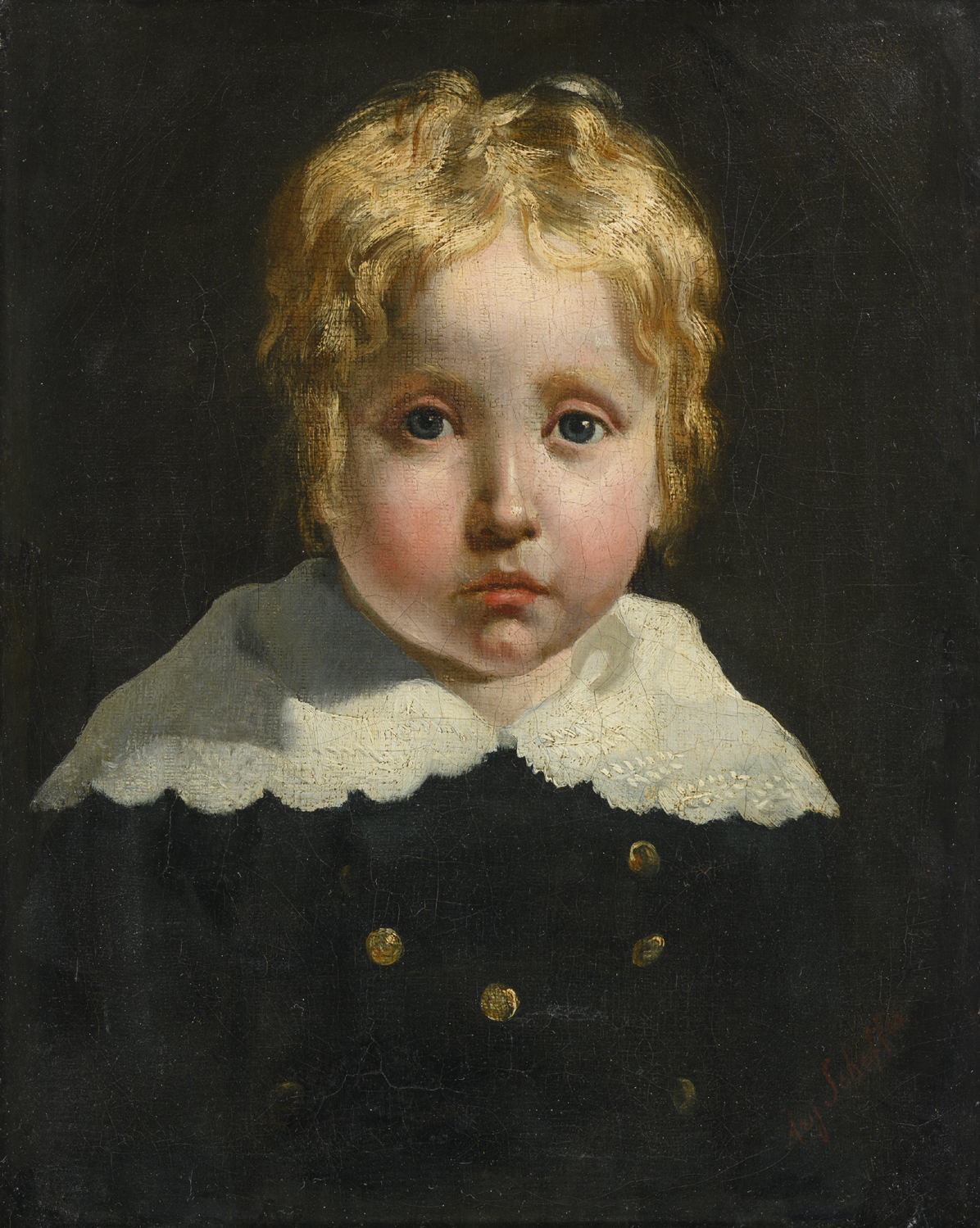 Ary Scheffer | Portrait of a young boy | Kunsthandel Bies | Bies Gallery