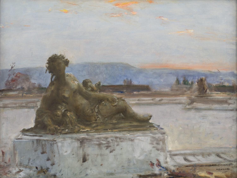 Marius Bauer | Beelden in de paleistuin van Versailles | Kunsthandel Bies