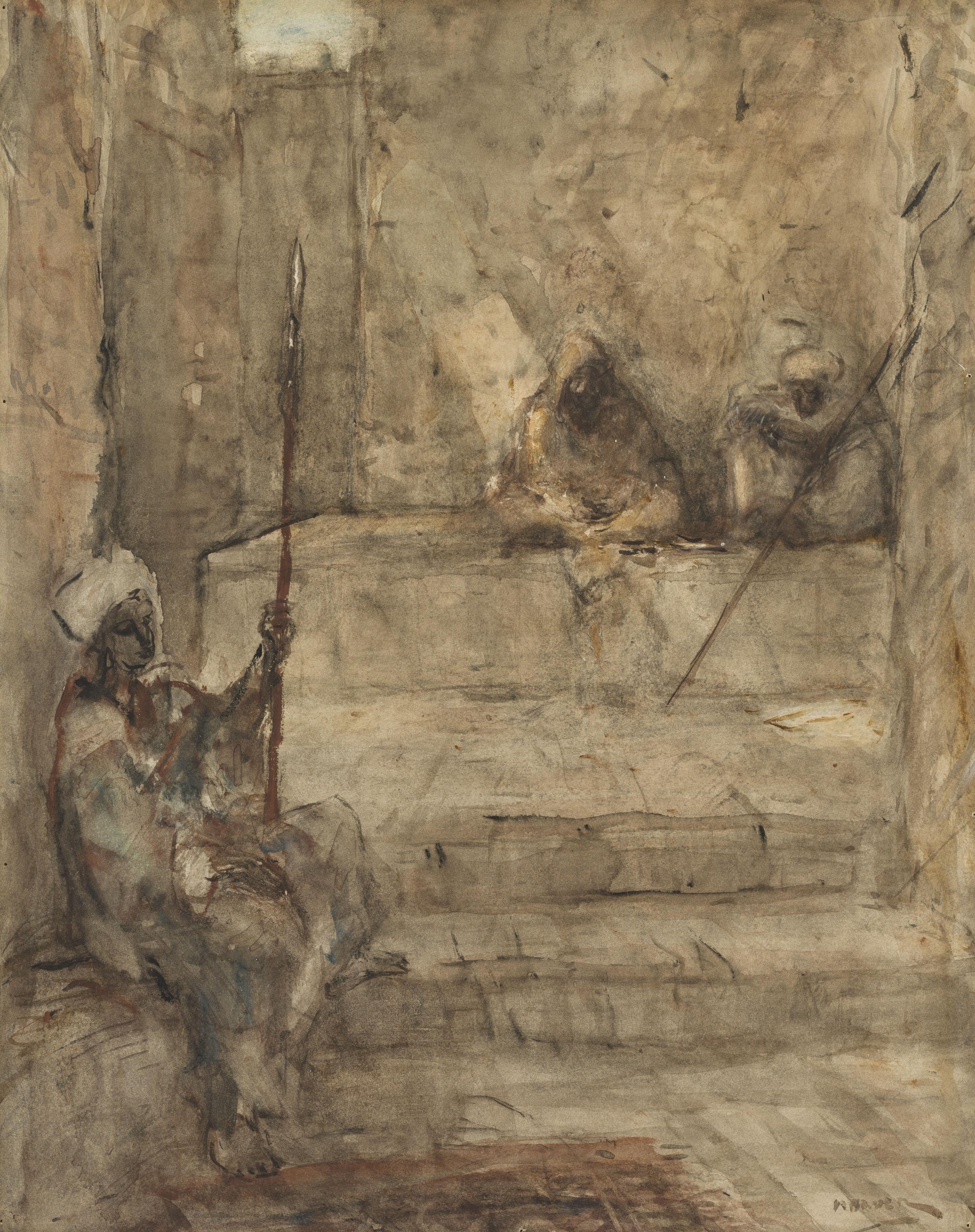 Marius Bauer | Oriental watchmen | Kunsthandel Bies | Bies Gallery