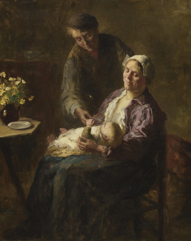 Bernard de Hoog | De gelukkige familie | Kunsthandel Bies