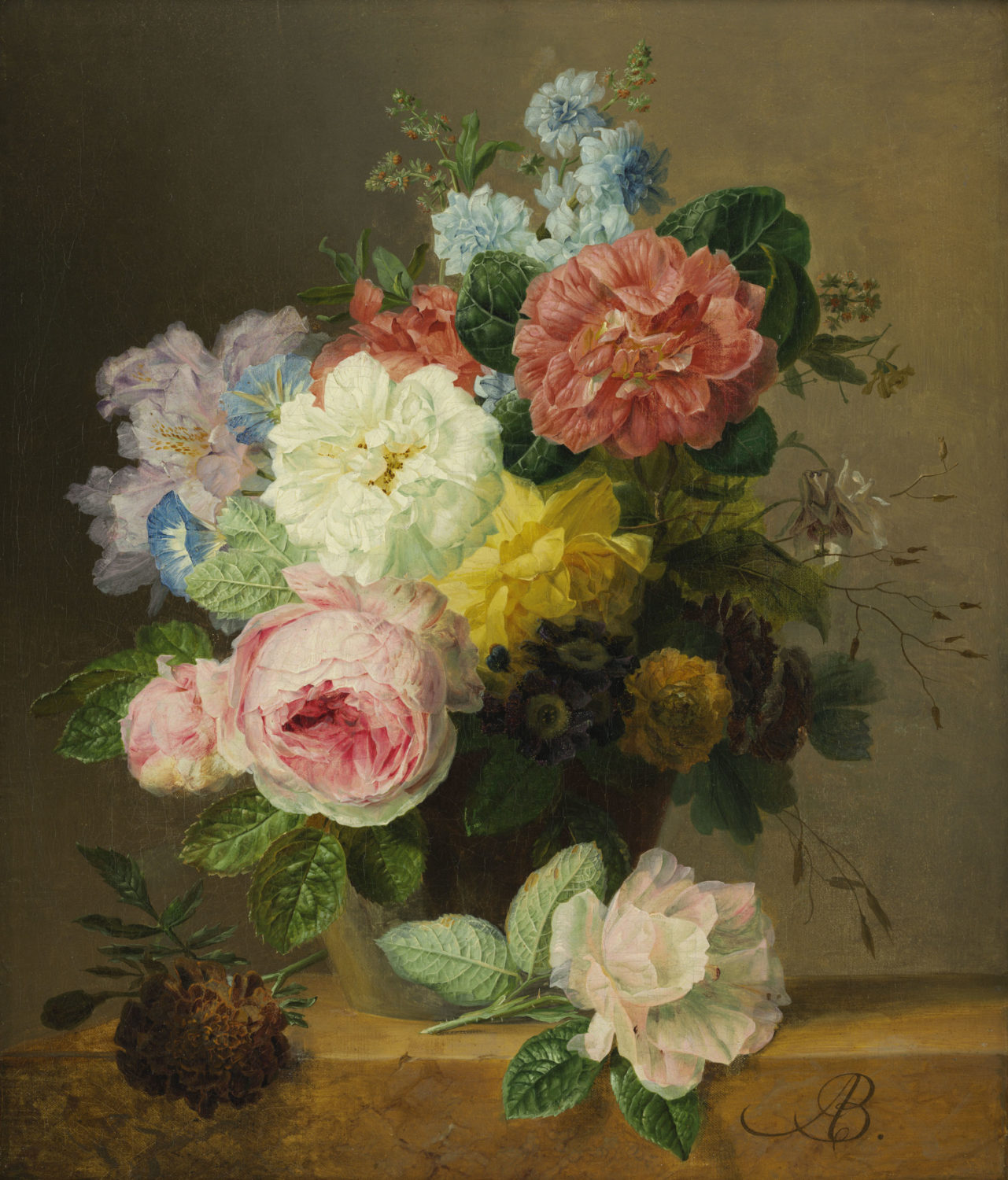 Arnoldus Bloemers | A still life with flowers | Kunsthandel Bies | Bies Gallery
