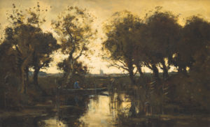 Theophile de Bock | Visser in een bootje | Kunsthandel Bies