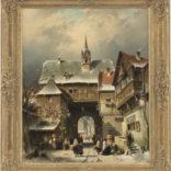 Charles Leickert | Stadsgezicht in de winter
