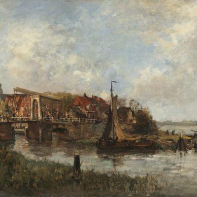 Charles Dankmeijer | Gezicht op Zoeterwoude | Kunsthandel Bies