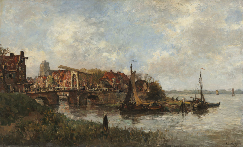 Charles Dankmeijer | Gezicht op Zoeterwoude | Kunsthandel Bies | Bies Gallery
