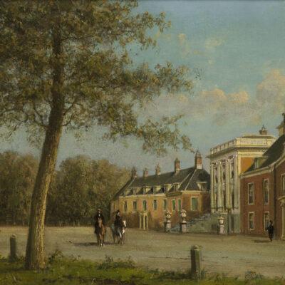 Johannes Josephus Destree | Gezicht op Paleis Huis ten Bosch in Den Haag | Kunsthandel Bies