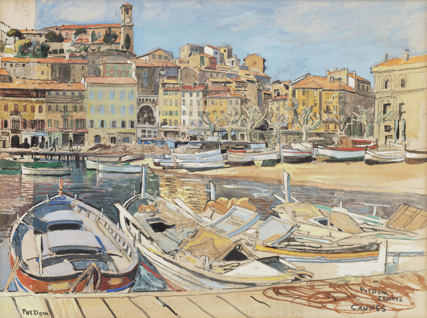 Pol Dom | The harbour of Cannes | Kunsthandel Bies | Bies Gallery
