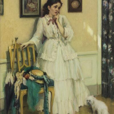 Fernand Toussaint | Elegante dame in een interieur