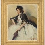 Fernand Toussaint | Elegante dame met parasol
