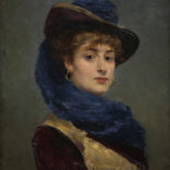 Francisco Miralles y Galup | Portret van een jonge vrouw | Kunsthandel Bies