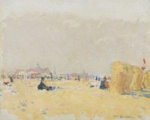 Frans Smeers | Op het strand van Scheveningen | Kunsthandel Bies