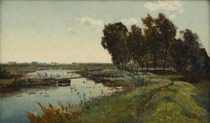 Paul Joseph Constantin ('Constant') Gabriël | Polderlandschap | Kunsthandel Bies