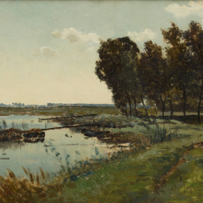 Paul Joseph Constantin ('Constant') Gabriël | Polderlandschap | Kunsthandel Bies