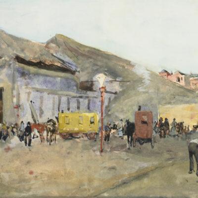 George Hendrik Breitner | Afbraak van de kermis op het terrein van de veemarkt te Rotterdam