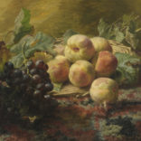 Gerardine van de Sande Bakhuyzen | Stilleven met druiven en perziken