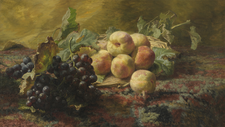 Afbeelding | Gerardine van de Sande Bakhuyzen | Stilleven met druiven en perziken