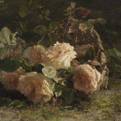 Gerardine van de Sande Bakhuyzen | Stilleven met rozen | Kunsthandel Bies