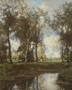 Arnold Marc Gorter | Koeien bij de Vordense Beek | Kunsthandel Bies
