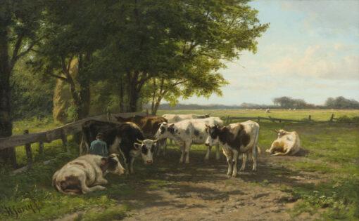 Hendrik Savrij | Melktijd | Kunsthandel Bies
