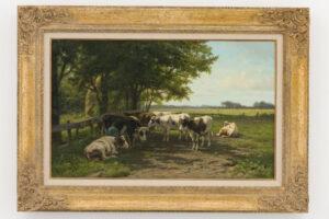 Hendrik Savrij   Melktijd   Kunsthandel Bies
