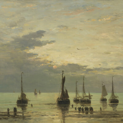 Hendrik Willem Mesdag | Terugkeer van de vissersvloot | Kunsthandel Bies