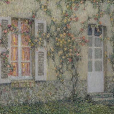 Henri Le Sidaner | La maison aux roses, Versailles