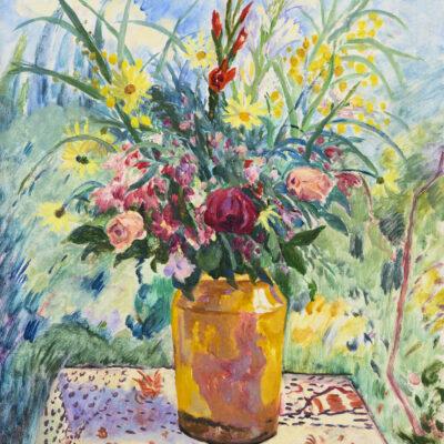 Henri Manguin | Pot jaune et glaieuls roses | Kunsthandel Bies