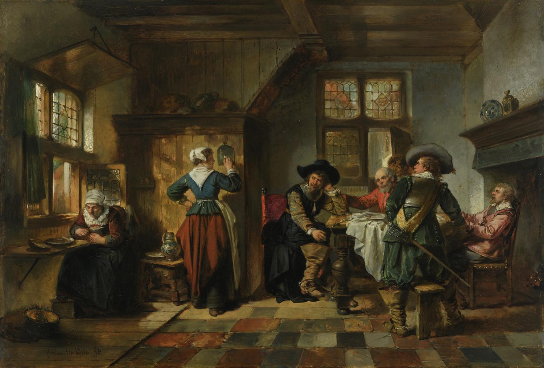 Herman ten Kate | In de taveerne | Kunsthandel Bies