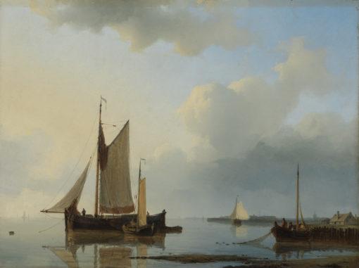 Abraham Hulk | Schepen voor de Hollandse kust | Kunsthandel Bies
