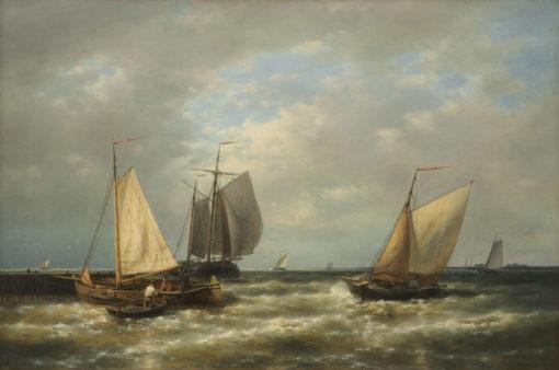 Abraham Hulk | Schepen voor de kust | Kunsthandel Bies