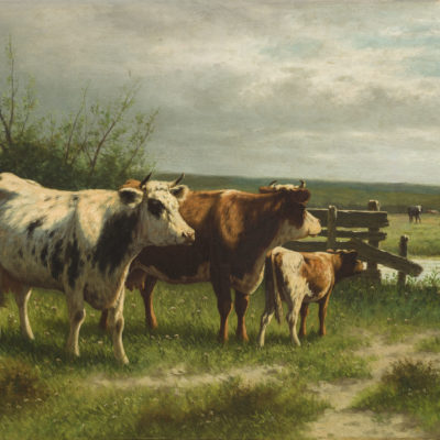 Willem Frederik Hulk | Koeien in een landschap | Kunsthandel Bies