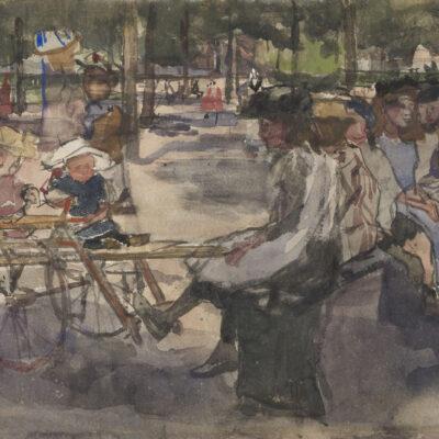 Isaac Israels | Kinderen in het park | Kunsthandel Bies