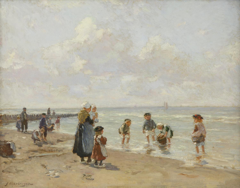 Johannes Evert Hendrik Akkeringa |Strandgezicht met kinderen| Kunsthandel Bies