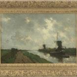 Hendrik Johannes ('J.H.') Weissenbruch | Hollands polderlandschap met molens