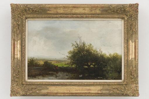 Johannes Warnardus Bilders   Landschap met hengelaar   Kunsthandel Bies