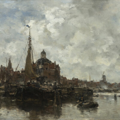 Jacob Maris | Gezicht op de Koepelkerk te Amsterdam | Kunsthandel Bies | Bies Gallery
