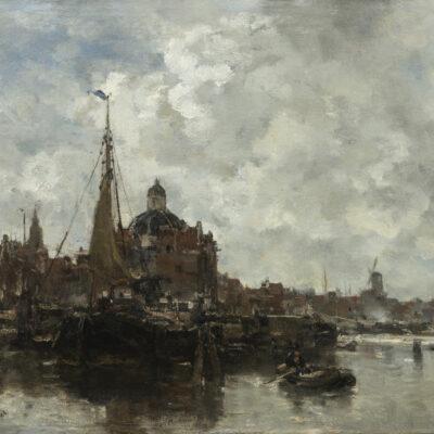 Jacob Maris | Gezicht op de Koepelkerk te Amterdam | Kunsthandel Bies } Bies Gallery