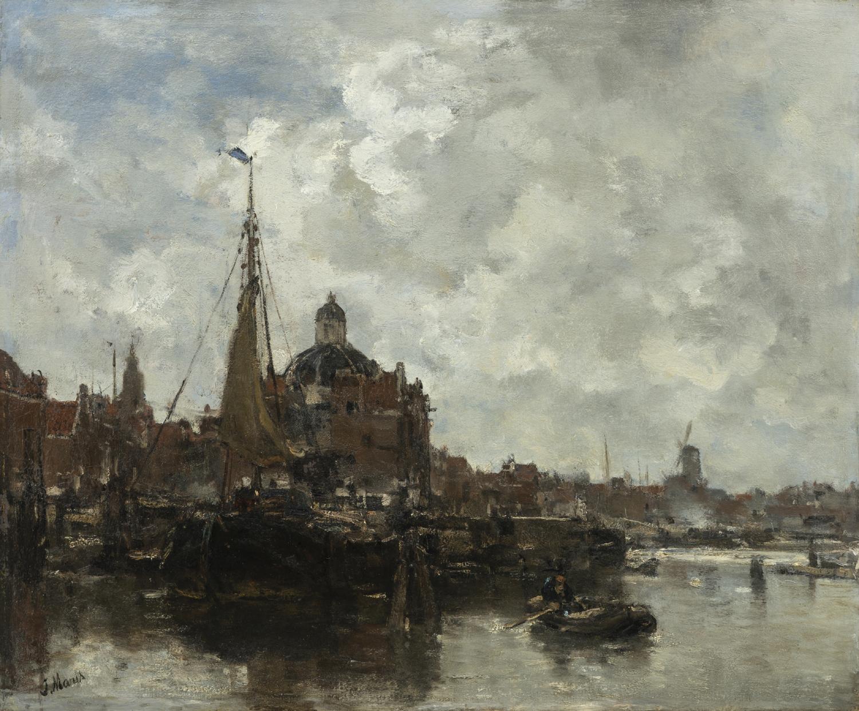 Jacob Maris | Gezicht op de Koepelkerk te Amsterdam | Kunsthandel Bies | Bies Gallery