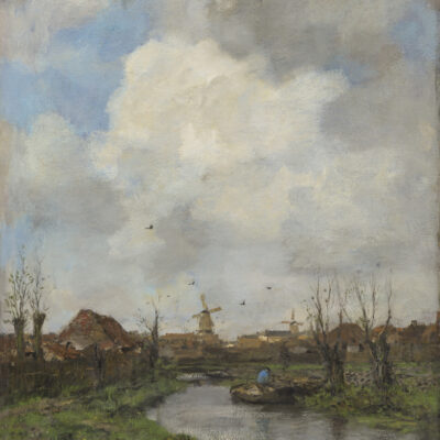 Jacob Maris | Landschap bij Den Haag | Kunsthandel Bies