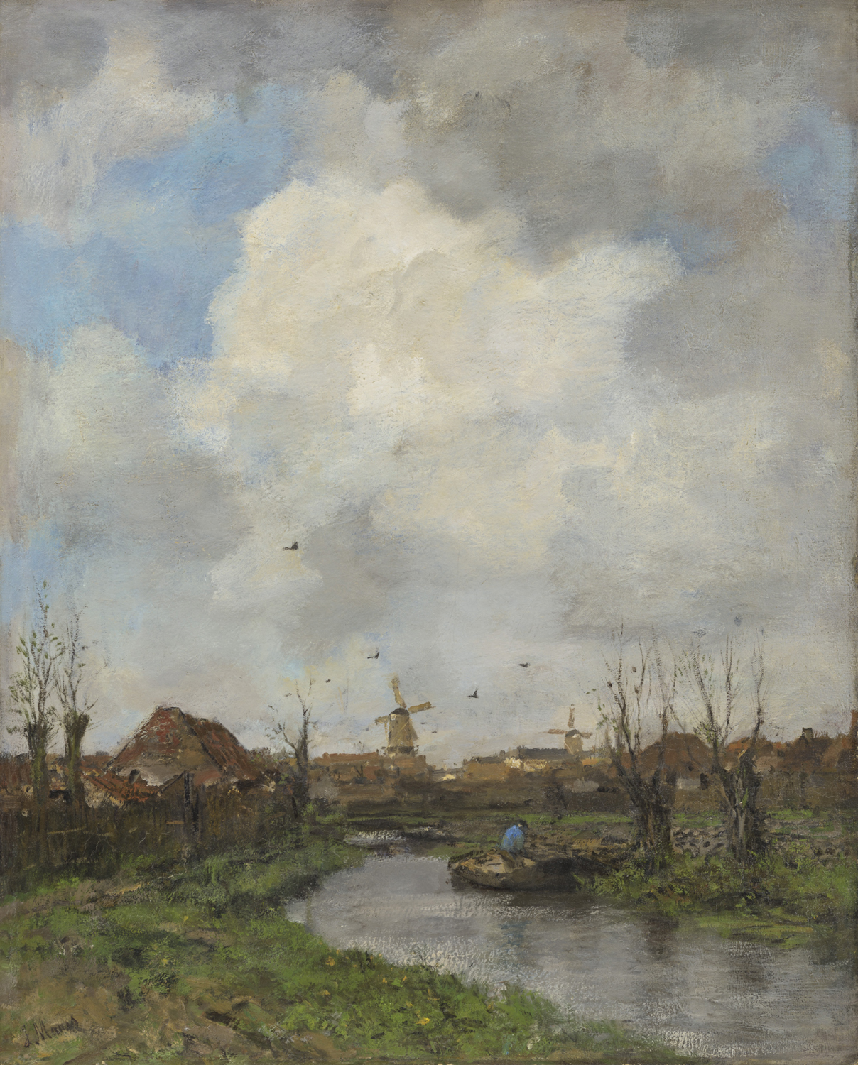 Jacob Maris | A landscape near The Hague | Kunsthandel Bies | Bies Gallery